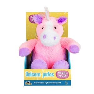 Jucarie de plus Noriel Plush - Unicorn pufos, roz, 25 cm imagine
