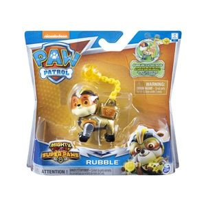 Figurina Paw Patrol Mighty Pups Super Paws, Rubble 20114285 imagine