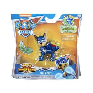 Figurina Paw Patrol Mighty Pups Super Paws, Chase 20114286 imagine