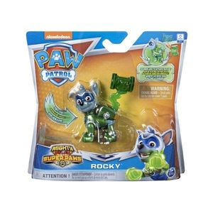 Figurina Paw Patrol Mighty Pups Super Paws, Rocky 20114288 imagine