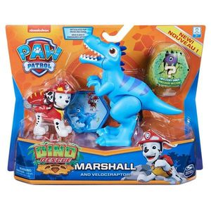 Set 2 figurine Paw Patrol Dino Rescue, Marshall and Velociraptor, 20126400 imagine