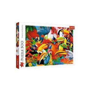 Puzzle 500. Pasari colorate imagine