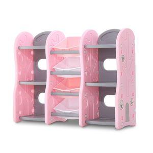 Organizator Nichiduta Tree Pink pentru jucarii cu 4 cutii si rafturi imagine