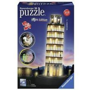 Puzzle Ravensburger Leaning Tower Of Pisa Night Edition 3D 216 Pcs imagine
