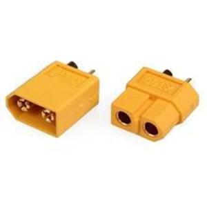 Xt60 Connectors Male And Female (Yellow) imagine