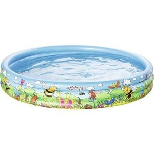 Piscina gonflabila cu 3 inele si imprimeu Flowers and Friends 122x25 cm imagine