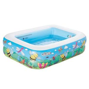 Piscina gonflabila cu 2 inele Flowers and Friends 132x94x36 cm imagine