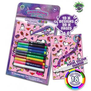 Carte de colorat cu markere magice - Unicorni imagine