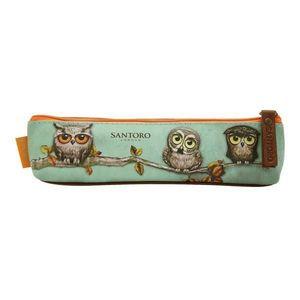 Penar tip pouch Grumpy Owl, 18x5x3 cm - Santoro imagine