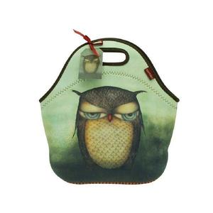 Geanta pentru pranz Santoro - Grumpy Owl, 30 x 28 x 16 cm imagine