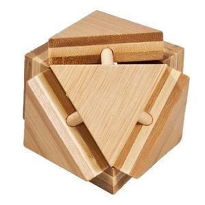 Joc logic IQ din lemn bambus Triangleblock imagine
