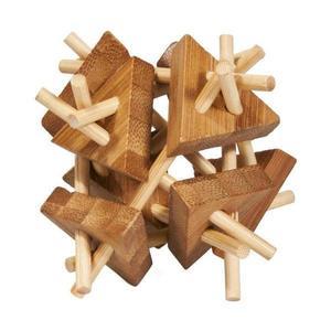 Joc logic IQ din lemn bambus Sticks&triangles imagine