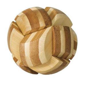 Joc logic IQ din lemn bambus Ball imagine