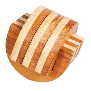 Joc logic IQ din lemn bambus Cleme imagine