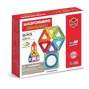 Set magnetic de construit- Magformers Basic Plus, 26 piese imagine