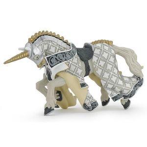 Figurina Papo - Calul cavalerului unicorn imagine