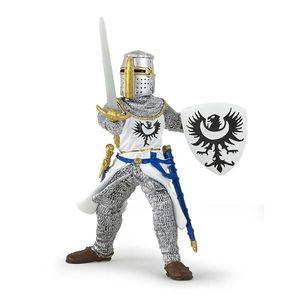 Figurina Papo - Cavaler negru cu sabie imagine