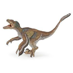 Figurina Papo - Dinozaur Velociraptor cu pene imagine