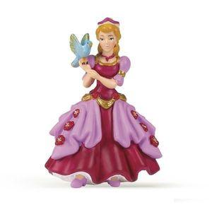Figurina Papo-Printesa roz cu pasare imagine