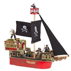 Figurina Papo Corabia piratilor rosie imagine