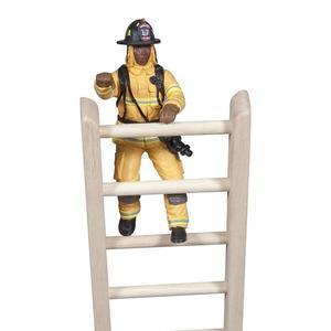 Figurina Papo Pompier US galben pe scara imagine