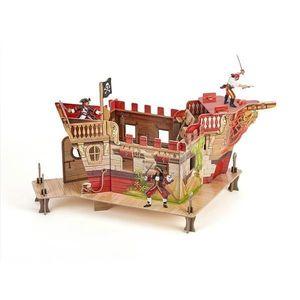 Set Figurine Papo - fort pirati carton+3 figurine imagine
