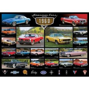 Puzzle 1000 piese American Cars of the 1960s imagine