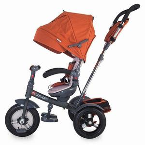 Tricicleta multifunctionala cu roti gonflabile Coccolle Giro Plus Caramiziu imagine