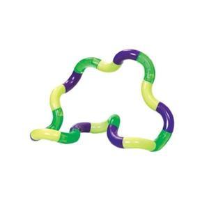 Jucarie senzoriala antistres, Fidget Twist cu miscari infinite de decompresie, Galben/Verde/Violet - Shop Like A Pro imagine