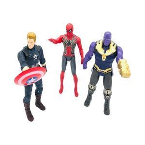 Set 3 Figurine Super Eroi Avengers - Spider Man, Thanos, Captain America, 17 cm imagine