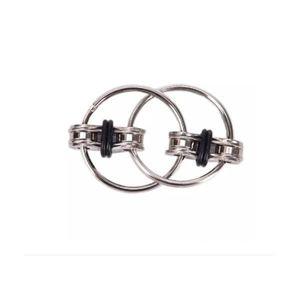 Jucarie senzoriala antistres, Fidget Metalic Triplu Spinner, Negru, 3 cm, +3 ani - Shop Like A Pro imagine