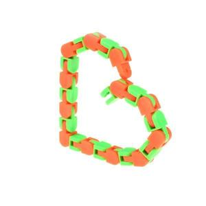 Jucarie senzoriala antistres, 24 piese creative, Fidget puzzle de decompresie, Portocaliu/Verde, + 3 ani - Shop Like A Pro imagine