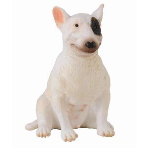 Caine Bull Terrier femela - Animal figurina imagine