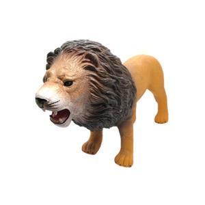 Figurina din cauciuc Leu cu sunete specifice 40 cm Maro imagine
