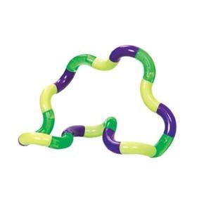Jucarie senzoriala antistres, Fidget Twist cu miscari infinite de decompresie, Galben/Verde/Violet, + 3 ani imagine