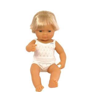 Papusa Baby european baiat Miniland 38 cm imagine