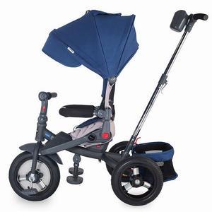 Tricicleta multifunctionala cu roti gonflabile Coccolle Corso Albastru imagine