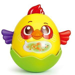 Jucarie interactiva pentru copii Gossip Bird galben Hola Toys imagine
