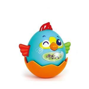 Jucarie interactiva pentru copii Gossip Bird bleu - Hola Toys imagine
