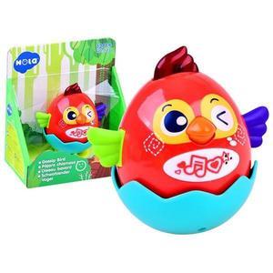 Jucarie interactiva pentru copii Gossip Bird rosie - Hola Toys imagine