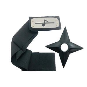 Set Bantana Naruto Simbolul Sunetului, Scratch, 107 cm si Shuriken Ninja din plastic, Negru - Shop Like A Pro imagine