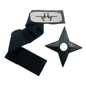 Set Bantana Naruto Simbolul Cascadei, Scratch, 107 cm si Shuriken Ninja din plastic, Negru - Shop Like A Pro imagine