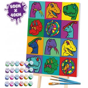 Paint by Numbers - Dinozauri imagine