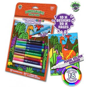Carte de colorat cu markere magice - Dinozauri imagine