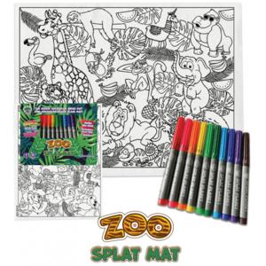 Servet de masa pentru colorat - Zoo imagine
