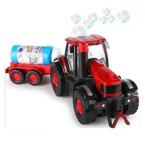 Jucarie de Facut Baloane de Sapun pentru Copii Tractoras cu remorca imagine