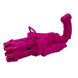 Pistol de jucarie pentru baloane de sapun, bubble gun, roz, 20X9cm - Shop Like A Pro imagine