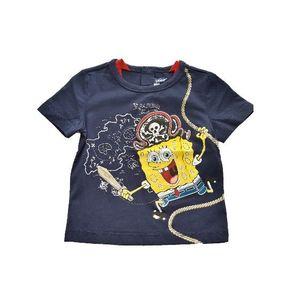 Tricou copii Original Marines SpongeBob marimea 62 cm, 6/9 luni, Bleumarin imagine
