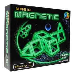 Set constructie magnetic Magic Glow 26 piese imagine