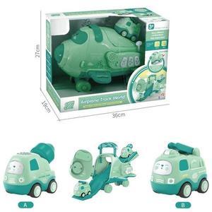 Jucarie avion cargo copii GO verde imagine